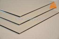 Bedruckbarer Zeichen-Vorstandsignage-glatter Glanz-Silber-Spiegel-Pinsel Nano PET PVDF, das 2mm 6mm 3mm 4mm Innenraum-außenim freienZwischenwand-Fassade-Umhüllung Acm beschichtet