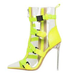 نمو يبيطر نساء أحذية جيش جزمة سيدات أحذية واضحة [هي هيل] جزمة