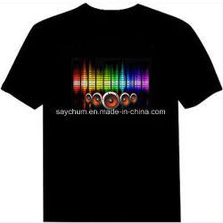 قميص قصير الأكمام من نوع LED بتصميم مخصص