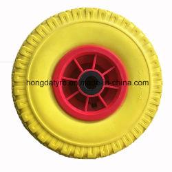 폴리우레탄 타이어 편평한 자유로운 타이어 바닷가 손수레 바퀴 공구 손수레 바퀴