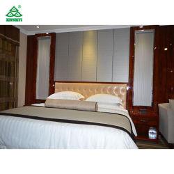 ローズウッドの光沢のあるカラー仕上げのホテルのベッドルーム家具