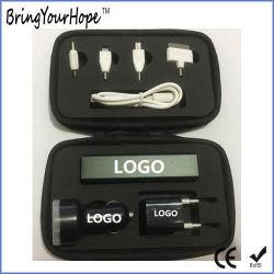 Дорожный набор для питания устанавливает входящий в комплект блок банк+автомобильное зарядное устройство зарядное устройство USB+(XH-PB-003T)