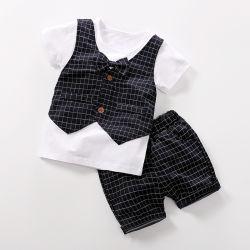 형식적인 아기는 여름 동안 입어 신사 작풍 아이들을 입는다