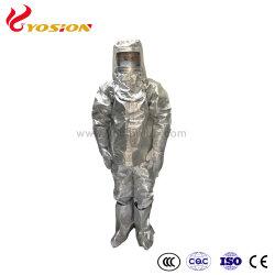 은 화재 접근 알루미늄 재킷은 장갑 두건과 단화를 헐덕거린다