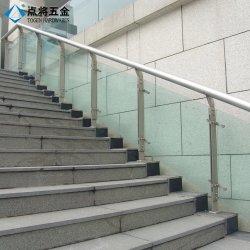 Balaustro di vetro ampiamente usato della scala del fornitore di Xiamen con la superficie del raso