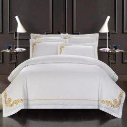 Teint clair 600t 100% coton Linge de lit en satin avec broderie (CCR276)