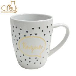 350ml de duidelijke Witte Ceramische Mok van de Koffie met het Embleem van de Douane