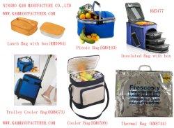 Chariot roulant sac isotherme pique-nique du refroidisseur d'roue sac à lunch de glace thermique