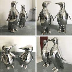 SUS304 het Beeldhouwwerk van de Pinguïn van de Dieren van het Metaal van het roestvrij staal