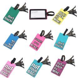 Prix de gros bagages de voyage funky en caoutchouc des sangles d'étiquette valise Nom Adresse ID tags des étiquettes de bagages (YB-t-006)