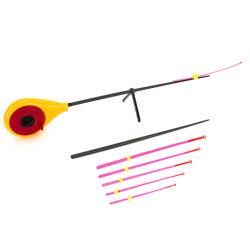 Novo 2019 Mini-amarelo e vermelho da haste de pesca de gelo cana de pesca pole para o conjunto de Pesca