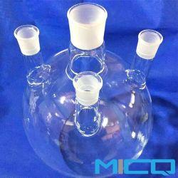 25ml de 2000ml Laboratório colo esmerilado Balão de quartzo de fundo redondo