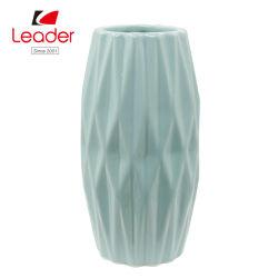 2018 Flor Azul Jarrón de cerámica vidriada de la sembradora para Hogar y Jardín Decoración
