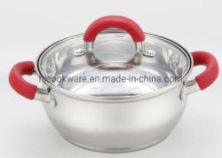 Aço inoxidável talheres de aço inoxidável Saucepot com tampa
