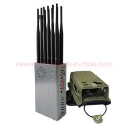 Il più nuovo tutti in uno 12 stampo portatile del segnale dell'emittente di disturbo RC 315/433/868MHZ del segnale Jammer/GPS del telefono mobile 3G/4G WiFi 2.4G/5.8G delle antenne