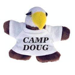 Weiches Tieradler-Spielzeug-kundenspezifischer Plüsch-Kühlraum-Magnet W/T-Shirt