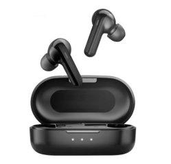 Haylou Gt3 écouteurs sans fil Bluetooth 5.0 l'appui 28 heures longue autonomie de la batterie en demi-antibruit EAR casque Bluetooth pour les téléphones cellulaires en noir