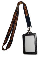 ID d'un insigne le cou Longes avec nom de cuir Le titulaire de carte