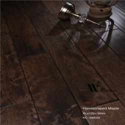 Bevloering van de Esdoorn van Handscraped van de koffie de Stevige Houten