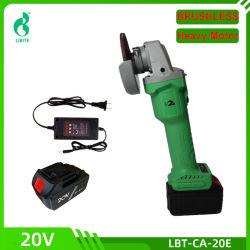 Alto potere senza spazzola senza cordone della batteria dello Li-ione del motore degli attrezzi a motore della smerigliatrice di angolo 20V