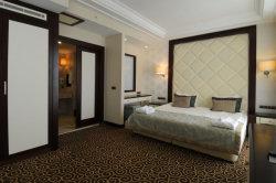 Commerce de gros hôtel 5 étoiles moderne en bois Meubles de chambre à coucher en tissu pour la vente
