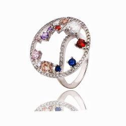 Серебряные украшения/Fashion украшения подарков кольцо с цветными камнями для производителей/свадеб