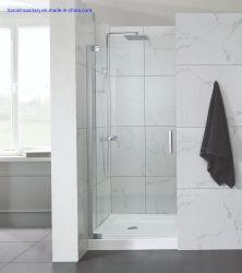 Abierta la puerta de ducha de pivote de latón sólido para un espacio pequeño