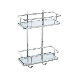 Suporte de vidro montado na parede Double-Deck sabão de latão para casa de banho da Cesta