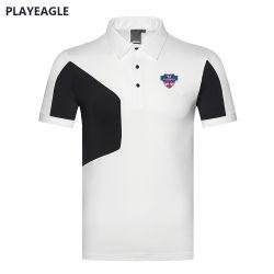 Della Cina degli uomini della maglietta camicia di polo asciutta all'ingrosso di golf di alta qualità di marchio dell'OEM rapidamente ultima con i brevi manicotti
