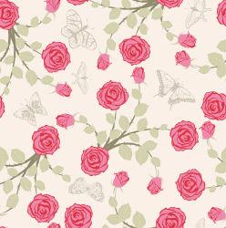 Rosa roja impresión lujosa boda parte tapizado telas encaje