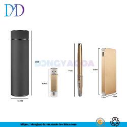 Coffret cadeau personnalisé de mémoire USB Pen tasse vide d'alimentation mobile Four-Piece Coffret cadeau