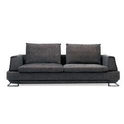 تصميم حديثة أسلوب [إيتلين] قابل للتعديل خلفيّة وسادة [هي ند] ضوء - رماديّ [لينن] بناء أريكة