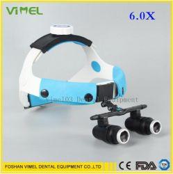 6.0X Стоматологическая Loupe медицинских хирургических бинокулярного зрения Loupes увеличительное стекло 420мм