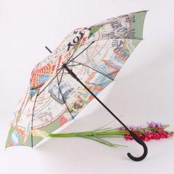 Carte de navigation mondiale d'impression personnalisés haute densité parapluie créatif couverture