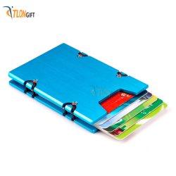 ベストセラーのアルミニウム製安全ポケットビジネスカードクリップ / ウォレット