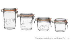 La nourriture en verre scellées verre Jar Jar de stockage avec boucle en métal et le joint