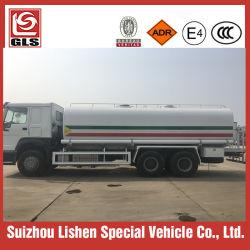 Marque HOWO 6X4 de haute qualité en acier inoxydable ou en acier au carbone à haute limite élastique 20m3 20000L d'eau citerne du camion