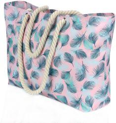 Stampa colorata borsa donna grande Shopping borsa alimentari spalla Beach Borsa tote con tasca interna