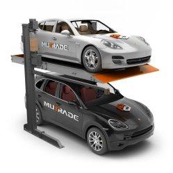Garaje dos hidráulico Post Double Deck Smart Parking Apilador Levante