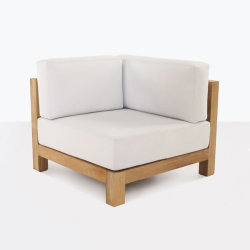 Ibiza extérieure de style moderne en bois de teck fauteuil canapé d'angle de coupe