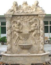 石造りの切り分ける噴水