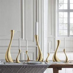 ضوء الشموع من الفولاذ المقاوم للصدأ مرآة زينة أوروبية كبيرة لامعة عشاء على ضوء الشموع فن الديكور الرومانسي