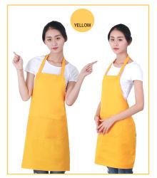 Черный серый простой дизайн постельное белье полиэстер Мужчины Женщины защитный фартук для приготовления пищи для очистки на кухне с индивидуального логотипа печать