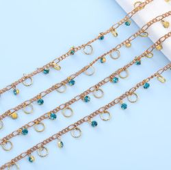 Le lac Blue Diamond 6mm gerbe gerbe de fleurs à la main Place de la chaîne Earring Bracelet accessoires de vêtements