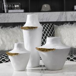 Hotel Luxury Gold modern Creative Home decor Bloem keramiek Chinees Vaas