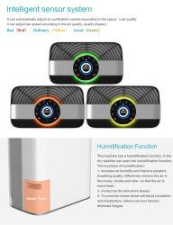 Purificatore ed umidificatore elettrostatici UV dell'aria dell'anione portatile del banco della stanza dell'ufficio con il filtro da HEPA