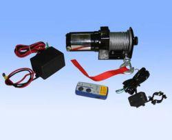 12V 2000lb ATV portátil recuperación remolque malacate eléctrico con mando a distancia inalámbrico