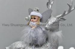 2020の標準的で新しいデザイン休日の結婚披露宴の装飾のための高い販売のクリスマスのプラシ天の天使はホックの装飾のクラフトのギフトを供給する