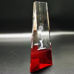 De nieuwe 3D Trofee van het Kristal van het Golf van de Laser kent Rode Basis toe