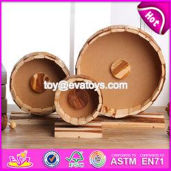 Nuevos Productos tres tamaños de pequeños animales gracioso juguete subrepticia de Pet de madera de la rueda de marcha W06F031